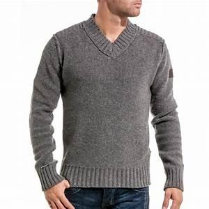 Gros Pull Laine Homme : lenny loyd pull homme gris en laine tendance blz jeans ~ Louise-bijoux.com Idées de Décoration