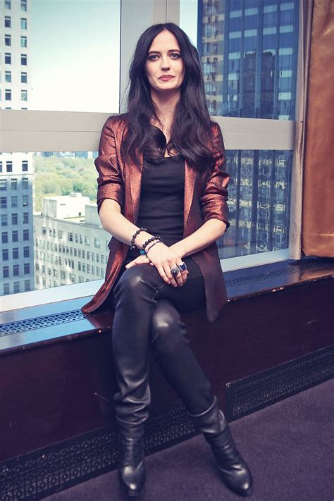 eva green   penny dreadful press conference leather