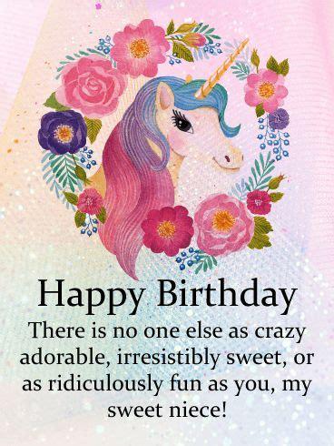 send  super cute niece  adorable unicorn birthday
