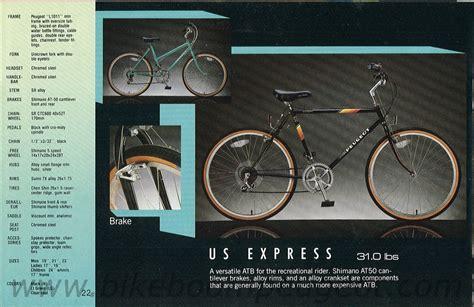 Peugeot Usa Bikes by Peugeot 1987 Usa Brochure