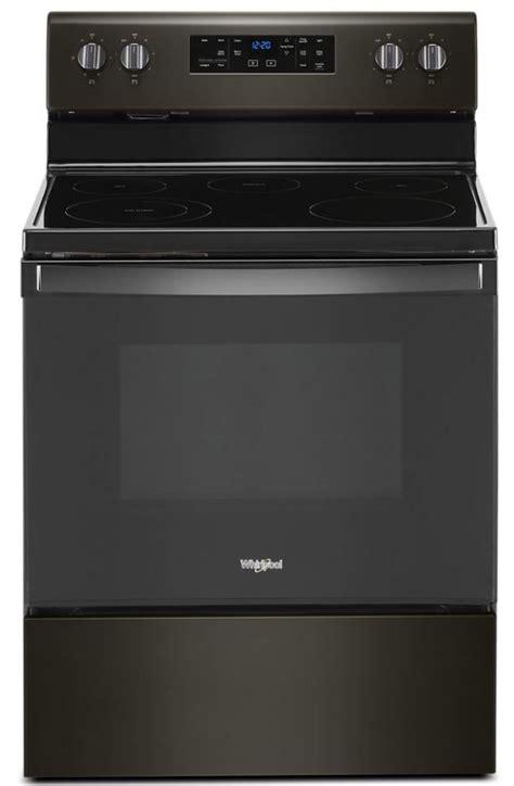 whirlpool  black stainless  standing electric range wfesjv spencers tv