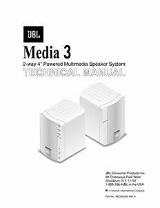 Jbl Media 3 Service Manual  U2014 View Online Or Download