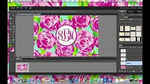How to Make a Monogram Background (wallpaper) with Adobe ...