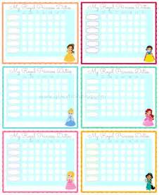 Princess Printable Chore Charts