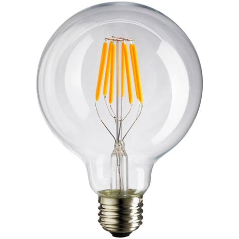 dimmable led vintage filament bulb g125 bulb style 6w warm