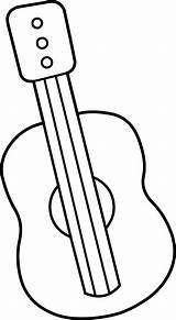 Guitar Clip Outline Clipart Mini Coloring Guitars Printable Cliparts Musical Lineart Border Instrument Library Acoustic Clipartpanda Ukulele Delusion Line Clipartmag sketch template