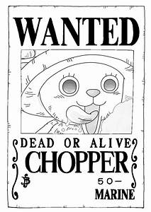 Tony Tony Chopper wanted poster by trille130 on DeviantArt