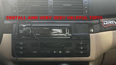 bmw  aftermarket radio install helpful tips youtube