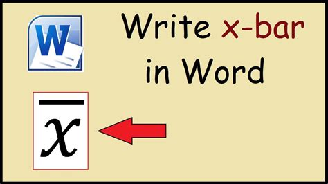 How To Write X-bar In Word