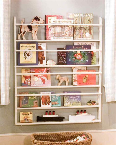 children s book rack diy wall shelves for more organized interior
