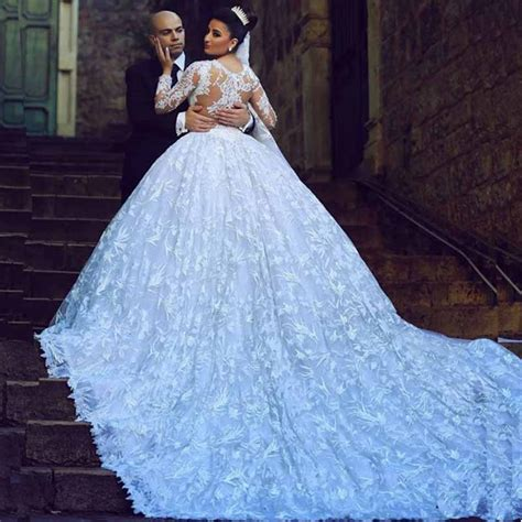 buy elegant full lace wedding dress