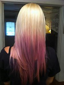 #ombre #pastel #blonde #purple.....would have to be a ...