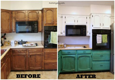 chalk paint on laminate kitchen cabinets remodelaholic diy refinished and painted cabinet reviews 9399