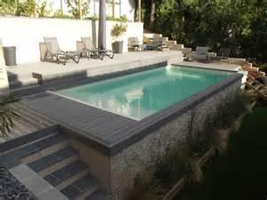 Agencement Jardin Piscine am 233 nagement piscine ext 233 rieure avec jardin flore bor 233 ale
