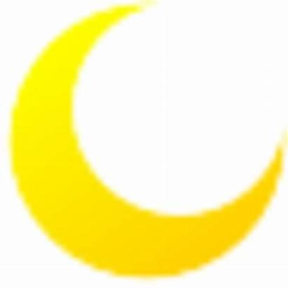 Moon Clip Transparent Yellow Clipart Crescent Cartoon