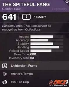 Destiny 2: The ... Spiteful Fang
