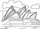 Opera Sydney Kleurplaten Kleurplaat Kunst Cultuur Colorear Coloring Operahuis Monuments Colorare Kultur Cultura Coloriages Malvorlagen Dibujo Sidney Coloriage Wonders Dessin sketch template