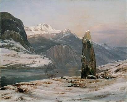Sognefjorden Ved Dahl Christian Johan Winter Vinter