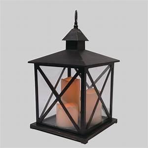grande lanterne antique noir eminza With deco jardin avec piscine 15 lanterne avec bougie led eminza