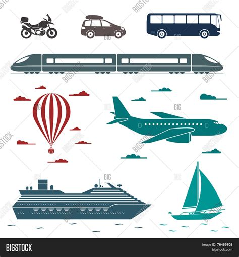 Sailing Boat Types by Various Types Transport Car Vector Photo Bigstock