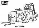 Coloring Pages Backhoe Cat Caterpillar Loader Printables Popular Birthday sketch template