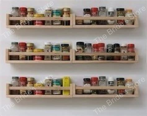 Wall Mount Spice Rack Ikea by Set Of 6 Ikea Spice Racks Wooden Wall Shelf Craft Book