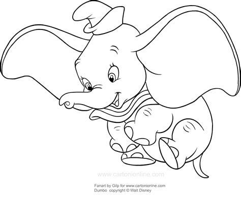 disegni a matita disney dumbo disegno di dumbo in volo da colorare