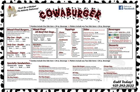 Ratings, reviews and photos from the local customers and articles bugatti's tanasbourne. Cowaburger menu in Hillsboro, Ohio, USA