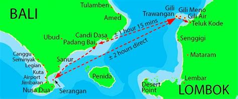map  bali lombok    gili islands wwwgilisasia