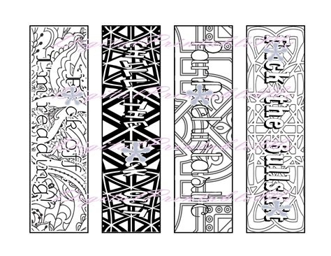 printable bookmark swear coloring page book mark mature adult