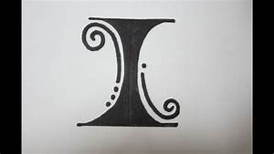 Fancy Letters - How To Draw Fancy Letters - The letter I ...  I