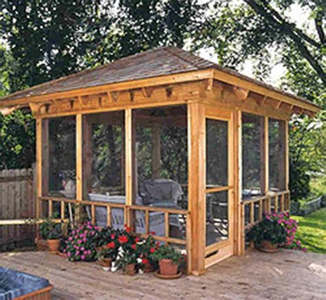 screened gazebo for deck creative ideas to remodel your screened porch interior
