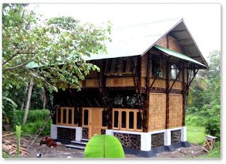 rumah bambu tahan gempa rumah bagus