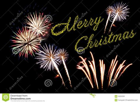 christmas fireworks stock image image  green