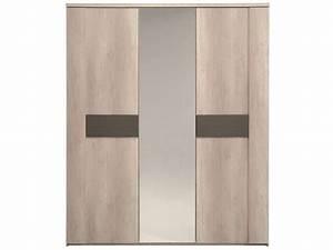 Armoire Porte Miroir : armoire 2 portes 1 porte miroir anouk conforama pickture ~ Teatrodelosmanantiales.com Idées de Décoration