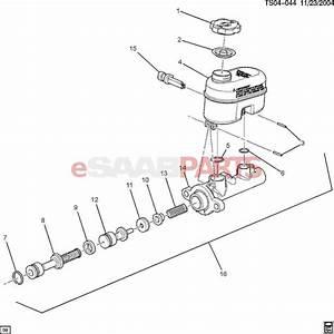 22688449  Saab Cap  Brake Master Cylinder Reservoir