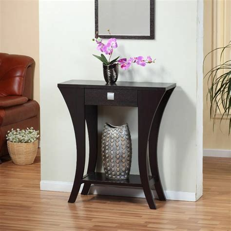 Foyer Tables With Storage by Foyer Entry Table Console Sofa Drawer Curved Wood Modern