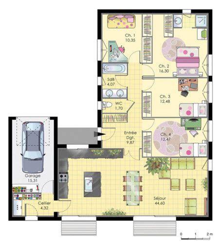 plan maison moderne 3 chambres maison de plainpied faire construire sa maison