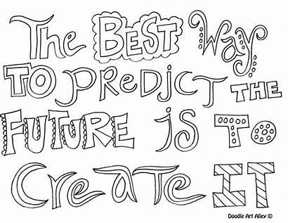 Coloring Pages Future Quotes Quote Sheets Adult