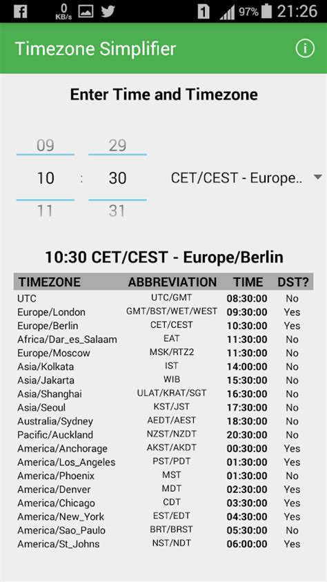timezone simplifier android apps google play