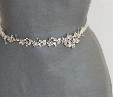 Bridal Sash Wedding Floral Sash Bridal Dress Sash Belt