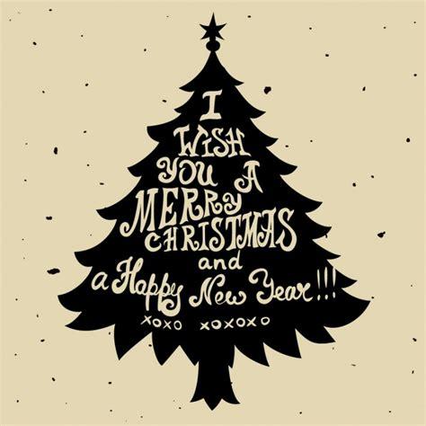 silueta de árbol de navidad silueta de un 225 rbol de navidad con letras descargar vectores gratis