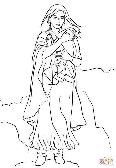 Sacagawea Coloring Page - Eskayalitim