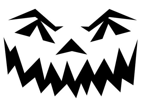Scary O Lantern Template by Best Photos Of Pumpkin Templates Printable