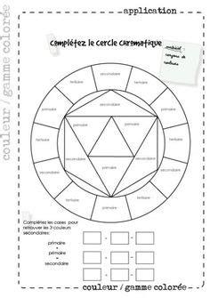 cercle chromatique vierge roue chromatique  imprimer