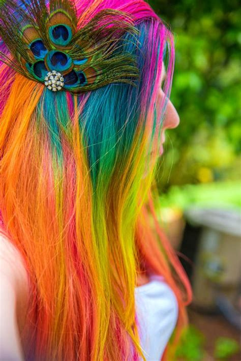 25 Best Ideas About Rainbow Dyed Hair On Pinterest