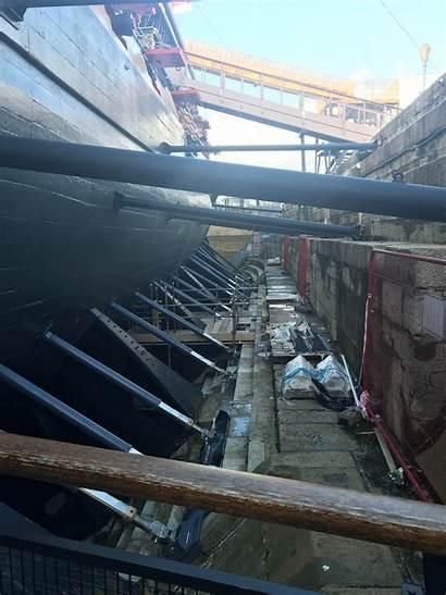 Hms Victory Inside Dry Dock