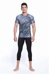 2016 plus size sports clothing sportswear for men running sets suits allover t shirt brand+skins ...