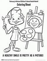 Coloring Hygiene Dental Health Month Printable Buanakata Children Popular sketch template