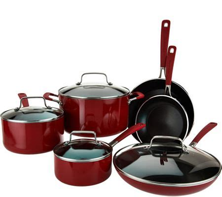 cookware qvc kitchenaid nonstick aluminum essentials sets cooks emeril easy piece bargain moms hunting they